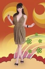 "NWT! Bettie Page ""Shimmer"" Halter  Dress in Gold, PINUP! ROCKABILLY! GLAM!"