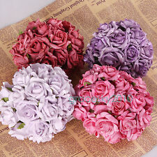 10-30 Head Real Touch Latex Bling Rose Flowers For Wedding Bridal Bouquet Decor