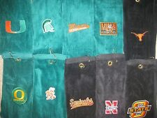 ***SUPER PLUSH TRI-FOLDED Golf Towel; Choice of NCAA TEAM; FREE GIFT w purchase
