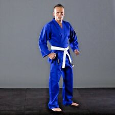 KARATEGI BLUE POLY 8 ONCE ADULT STUDENT SUIT MARTIAL KARATE JUJITSU JUJUTSU GI