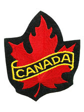 Canada Canadian Flag Maple Custom Embroidered Sew on Patches Badges