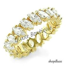 Women's 14k GP CZ Eternity Engagement Anniversary Wedding Ring Band Size 5-10