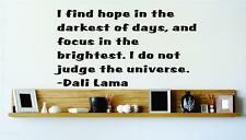 "Large Dali Lama Wall Quote - Inspirational Vinyl Decal / Sticker 22""x15"" [Q101]"