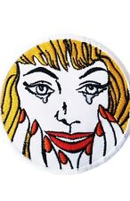 HAPPY TEARS Roy Lichtenstein Pop Art Sew on Iron on Patches Badge Merchandise