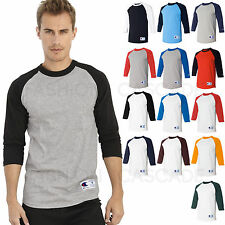 Champion Mens 3/4 Sleeve Baseball T Shirt S-3XL Raglan Jersey Tee NEW T137