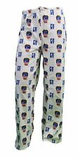 LICENSED FDNY LOUNGE PAJAMA PANTS FIRE DEPARTMENT NEW YORK CITY WHITE BOTTOMS