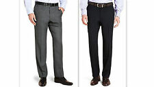 Mens Trousers BIG and TALL Formal Business Office WASHABLE WOOL BLEND