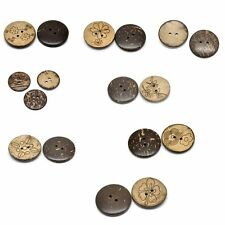 20PCs Sewing Scrapbooking Coconut Shell Buttons 2Holes Brown M0890