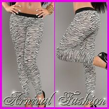 SEXY print LEGGINGS WOMENS STRETCH PANTS skin tight YOGA GYM FITNESS TROUSERS AU