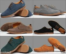 New fashion mens oxford retro casual suede leather lace up lined dress shoes