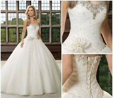 New white/ivory wedding dress Bride Gown Party Gown Stock Size: 6 8 10 12 14 16