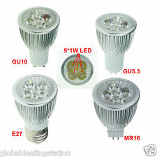 5pcs/lot led spot light 3W 4W 5W E27 GU10 GU5.3 ( MR16 12V) bulb lamp AC85V~265V
