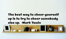 "Mark Twain Vinyl Famous Quote | Inspirational Wall Decal | 22""x7"" [Q181]"