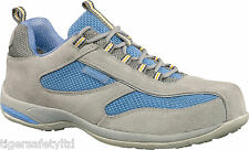 Delta Plus Panoply Antibes Grey Suede Ladies Safety Trainers Steel Toe Cap Shoes