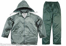 Delta Plus Panoply EN400 Green PVC Waterproof Rainsuit Trousers Jacket Coat