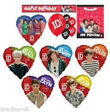 One Direction Banner Party Bags Harry Zayn Liam Niall Louis Foil Balloons