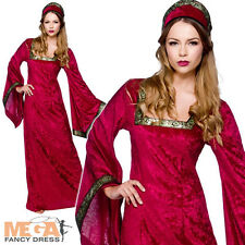 Medieval Princess Ladies Fancy Dress Historical Period Character Womens Costume