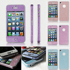 New Full Body Bling Diamond Cover Wrap Protect Sticker Skin Film for iPhone 4 4S