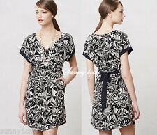 NWT Anthropologie Gathered Sonata Dress size S Black and White $128 Flowy