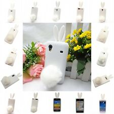 3D Cute Bunny Rabbit Soft Gel Rubber Silicone White Case for Various Models New