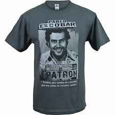 Charcoal Gray Pablo Escobar T Shirt - Colombian Drug Lord Cartel Cocaine Money