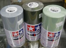 TAMIYA SPRAY LACQUER PAINT FOR MODEL & HOBBIES 3oz.CAN 28 AIRCRAFT COLORS AVAIL.