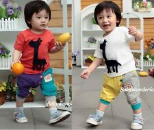 New Baby Boys Girls 2 Pcs Outfit set Top + Pants Two Colours Size 0,1,2,3