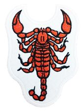 SCORPION Iron on Sew on Patches Applique for Shirts Motorcycle Vest Biker Jacket