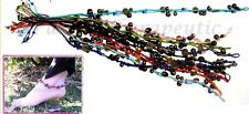 ~BEADS, BELLS & FENG SHUI COINS ANKLET~Surfer~Tribal~Jewellery~Multiple Strands~