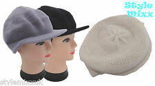 Ladies MOHAIR Hat Cap Womens Baker Boy Wool Knitted Soft Warm Hat Cap 3 Colours