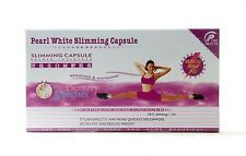 PEARL WHITE SLIMMING CAPSULES DIET PILLS PINK FLAT BOX MONEY BACK AUTHENTIC