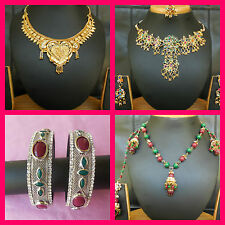 UNDER $10 Bollywood Jewelry Necklace Bangles Anklets Bellydance FREE Shipping