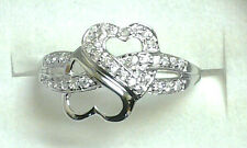 INFINITY RING Sterling Silver HEARTS FOR INFINITY Engagement/Promise Ring/  4-11