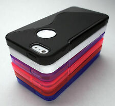 New Apple iPhone 5 - S Line Case Cover Skin TPU Rubber - 6 Colors Verizon AT&T