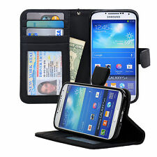 Navor Samsung Galaxy S4 Folio Wallet Leather Case Keep Money Bills Cards