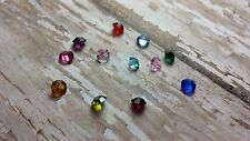 Crystal Birthstone Floating Charms for your Memory Glass Living Life Locket Owl