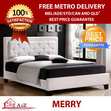 Brand New Merry Size PU Leather Bed Frame - Multicolor