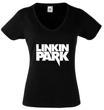 LINKIN PARK 3 T-SHIRT WOMENS BLACK FRUIT OF THE LOOM HIGH QUALITY DTG