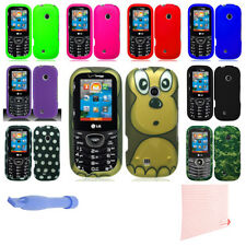 Protector Hard Case Cell Phone Faceplate Cover for LG Cosmos 3 +AKIT