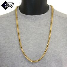 "MEN's Stainless Steel 6mm Gold Franco Box Cuban Curb Chain Necklace*24""30""36"""