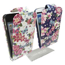 Stylish Colourful Floral Butterfly Flip Case, Cover for Various Mobile Phones