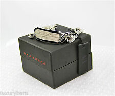 Armani Exchange A|X Metal Leather Chain Bracelet 100% Authentic New Box