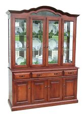 Amish Dining Room Hutch Traditional China Cabinet Solid Wood Furniture
