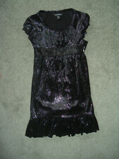Young Girls Dressy Black Glitter styleDress- New with Tags --Very Sharp