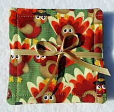 COASTERS~Handcrafted~Fabric~Lined~Set Of 4~Autumn Designs Vary~NEW~FREE SHIP