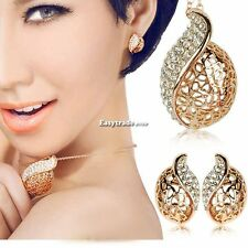 Butterfly Design Tassel Rhinestone Wedding Jewelry Necklace/Earrings Set ESY1