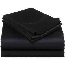 800TC 1PC FITTED SHEET BLACK SOLID 100% EGYPTIAN COTTON @ WHOLESALE PRICE SALE