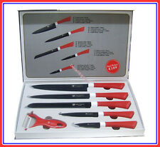 COATING MESSENSET 6 DELIG KITCHEN KNIFE SET SUPER SHARP ZEER SCHERP SWITSERLAND