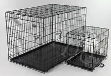 Dog Cage Pet Puppy Crate Folding Metal Training Travel Carrier 5 sizes easipet