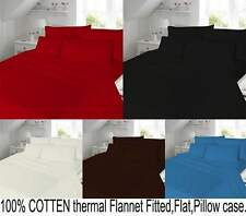4PCS 100% COTTON THERMAL FLANNEL Sheet set (FItted,Flat,Pillow)  BEDDING SET